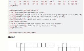 Como crear crucigramas con LaTeX